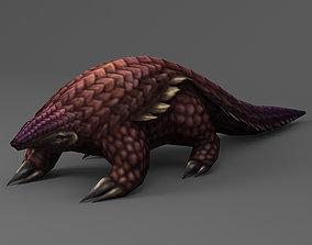 3D model Pangolin Rigged Animated