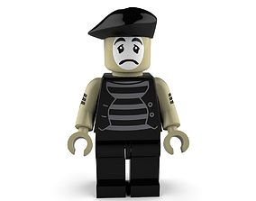 3D model Sad Mime Lego