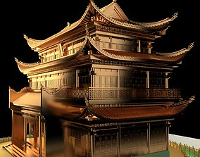 Chinese ancient house forbidden 3D model