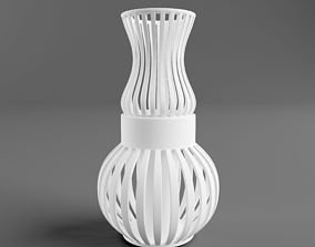 3D printable model wire vase two parts