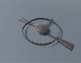 Metal Trap 3D asset animated