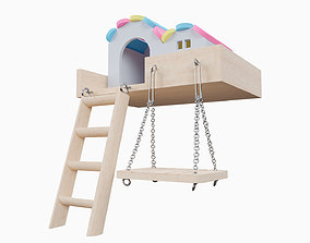 Mini House With Swing For Hamster 3D model