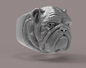 British bulldog Ring 3D printable model