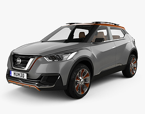 3D model Nissan Kicks concept with HQ interior 2014
