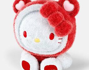 Hello Kitty soft toy 3D model mammal
