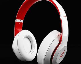 Headphones Beats Studio 3 Red and White 3D model