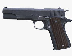 3D asset game-ready Colt M1911