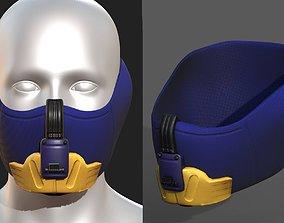 low-poly Gas mask respirator scifi futuristic 2