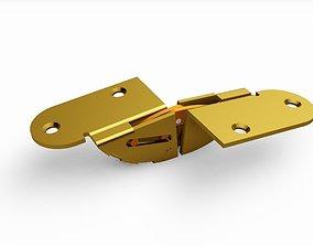 CONCEALED HINGE 46MM BUTTERFLY FOR FURNITURE 3D model