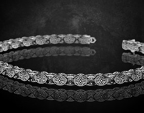 Bracelet with cross chain of any length 327 3D print model