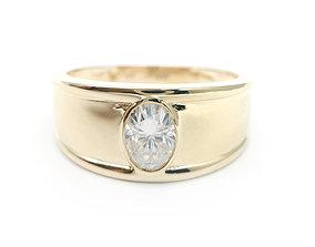 3DM Oval cut male wedding ring