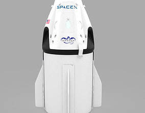 3D asset SpaceX Dragon