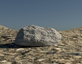 3D asset Rock simple