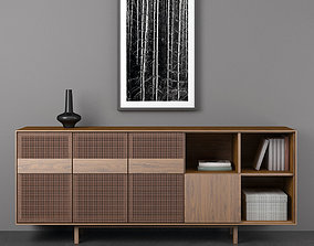 3D model Sideboard Danish 60s Teak
