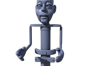 Titere de Varilla 001 Rod Puppet 001 3D printable model