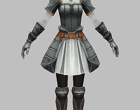 Woman Character 3D scifi