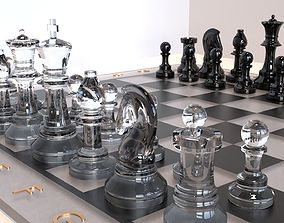 Glass Chess Set 3D