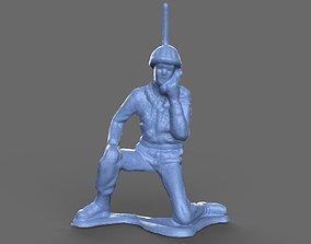 Green Army Man Radio Recon 3D model