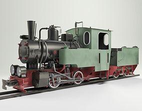 3D model T2-71 Narrow Steam Locomotive