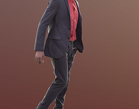 Bruce 10388 - Walking Business Man 3D model