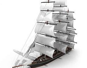 3D model Wooden Ship