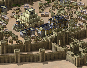 3D model Babylonian buildings and monuments