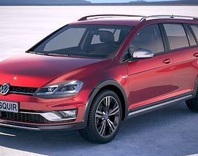 3D model Volkswagen Golf Alltrack 2019