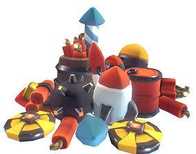 3D model Explosives Set - Smashy Craft Series