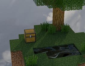 Minecraft Skyblock AMV 3D asset