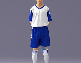 Soccer player 1114-6 3D Print Ready miniature