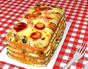 3D Seafood Lasagna