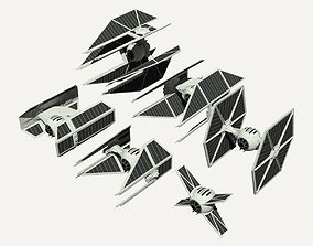 TIE fighters collection 3D model