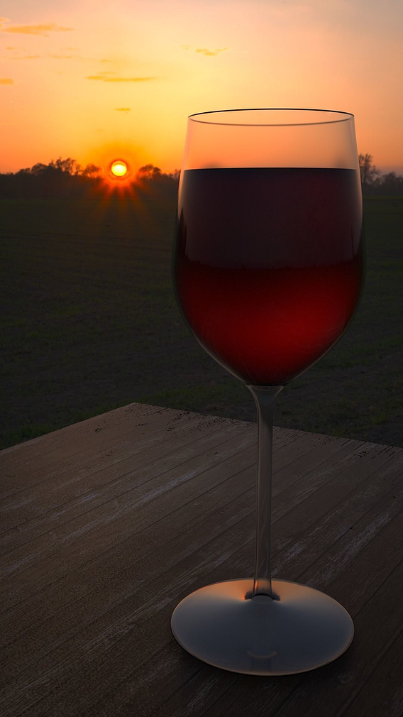 Photorealistic wine glass