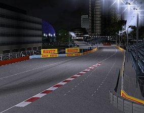 Singapore Marina Bay F1 Track 3D asset low-poly