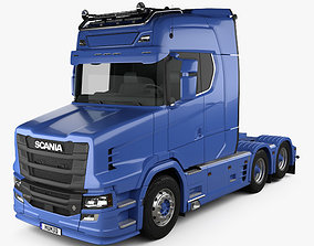 3D Scania S730 T Tractor Truck 2017