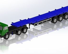 KamAZ and 3-axle container 3D printable model