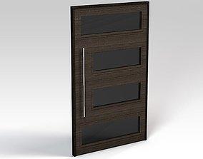 Dark wooden door 3D