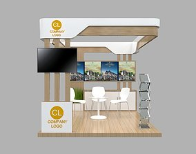3D Booth Minimalis 3x3 booth