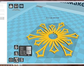 bauble Snowflake 3D printable model