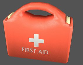 3D model First Aid Kit Plastic Orange