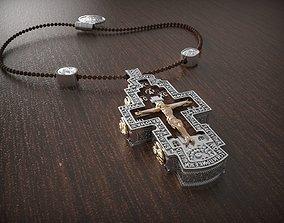 buddha Russian Pendant cross 3D print model