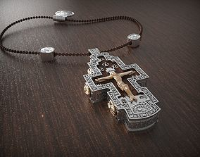 jewelry 3D printable model Pendant cross