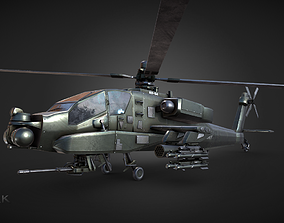 3D Apache AH-64 Attack Helicopter