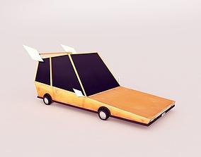 3D asset Cartoon car
