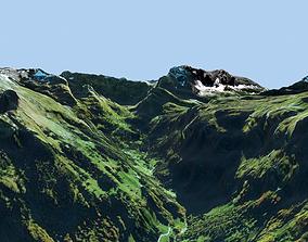 3D model Mountain landscape Alps Switzerland