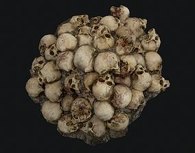 Skulls 3D asset game-ready