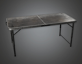 Folding Table 02 HLW - PBR Game Ready 3D asset