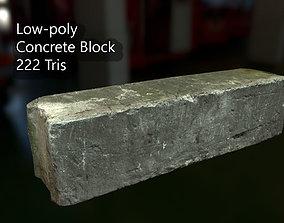 3D model PBR Concrete Block