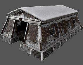 Ethnic Log House Pack 3D model