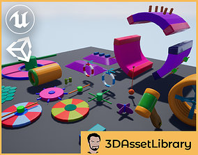 Fun Obstacle Course Expansion For Unreal And 3D model